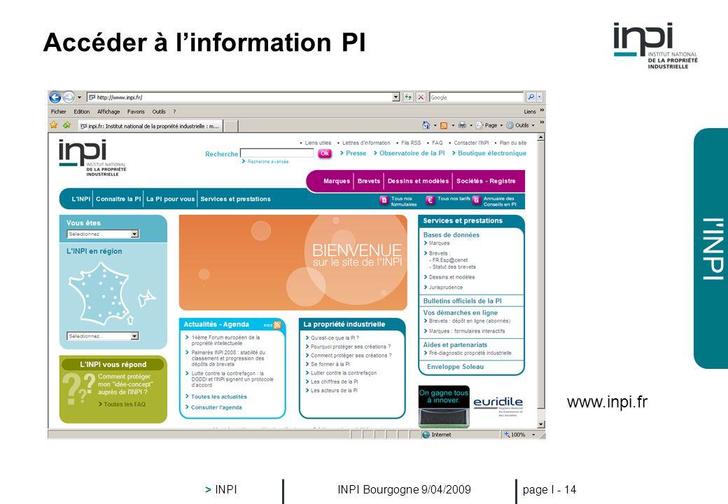 Accéder à l'information PI