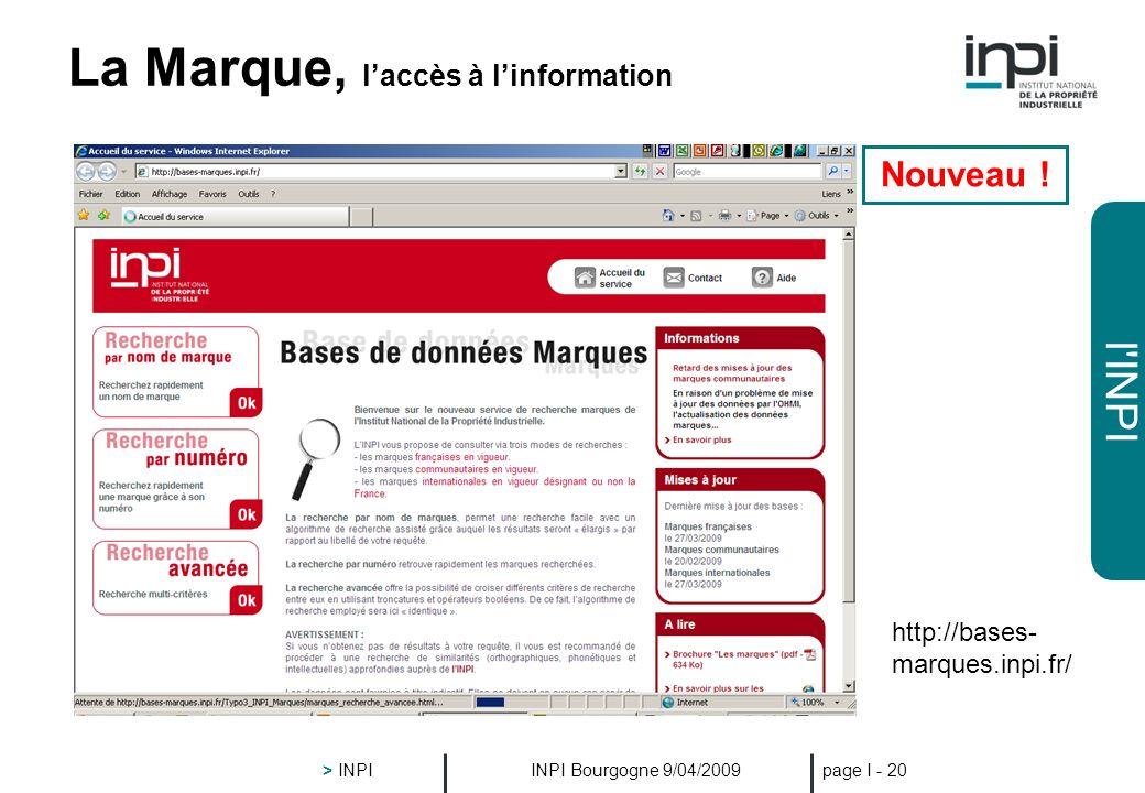 La Marque, l'accès à l'information