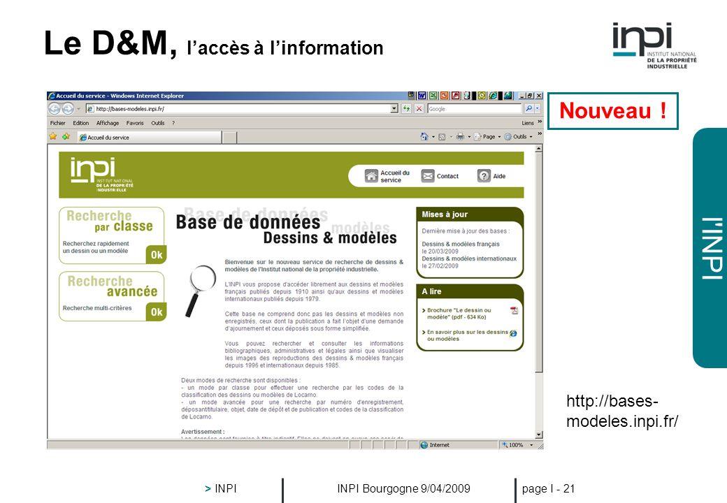 Le D&M, l'accès à l'information