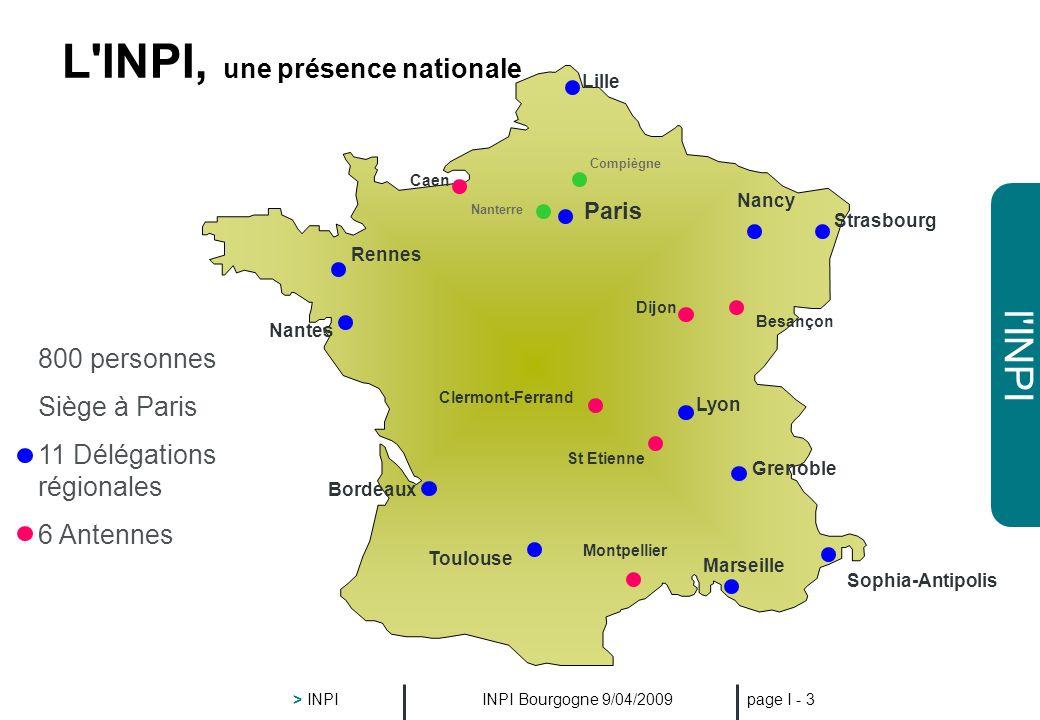 L INPI, une présence nationale