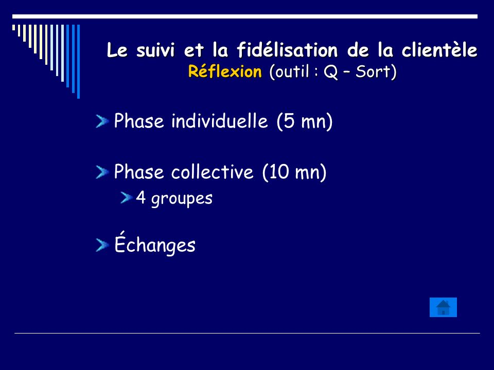 Phase individuelle (5 mn) Phase collective (10 mn)
