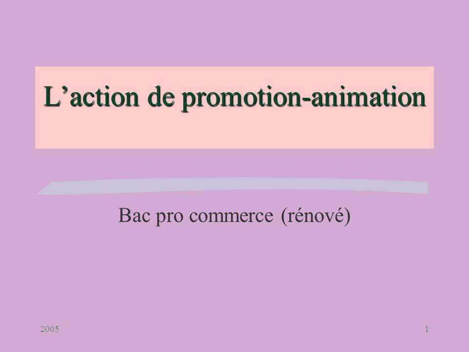 L'action de promotion-animation
