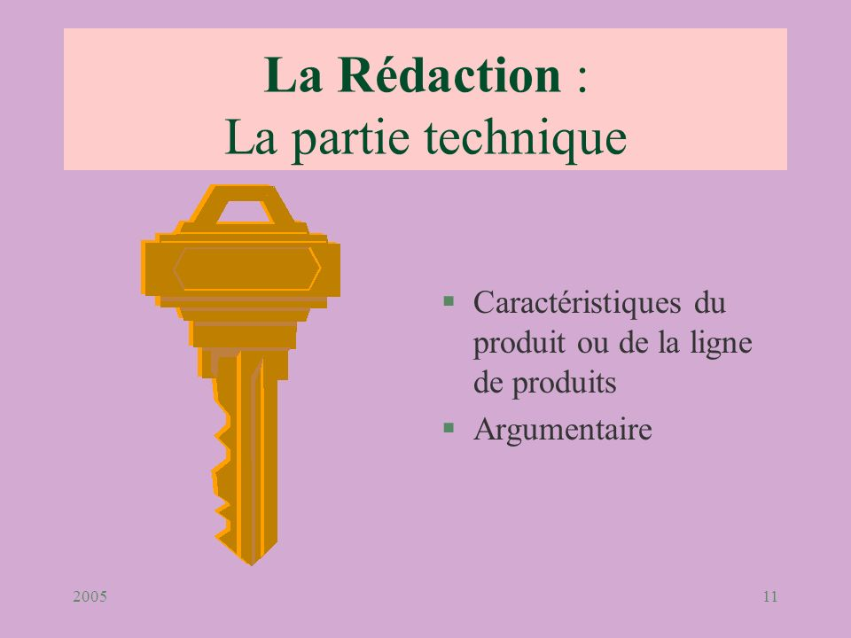 La Rédaction : La partie technique