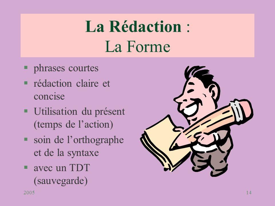 La Rédaction : La Forme phrases courtes rédaction claire et concise