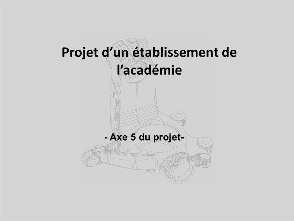 Projet d'un établissement de l'académie