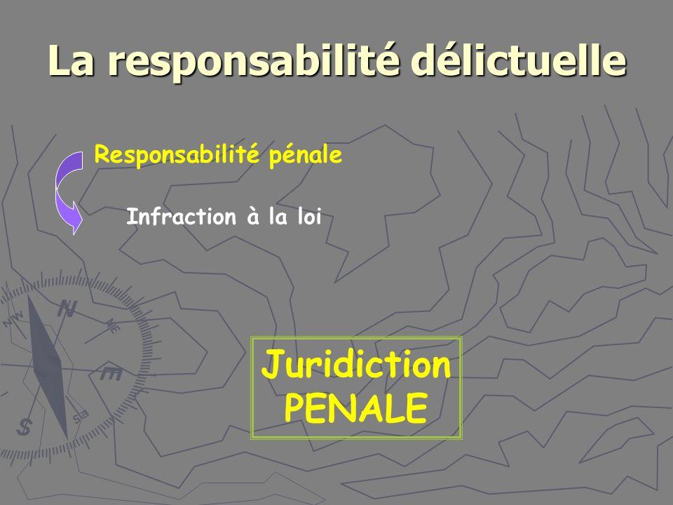 La responsabilité délictuelle
