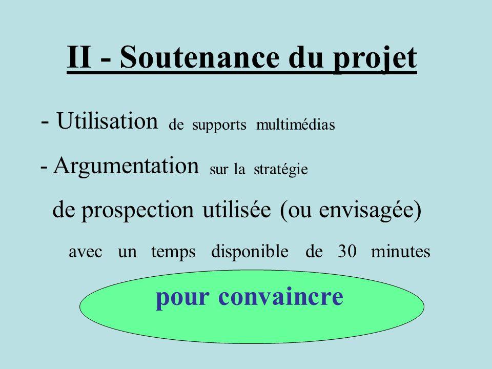 II - Soutenance du projet