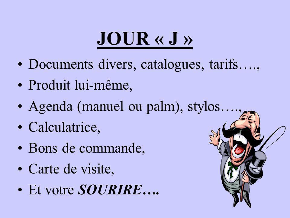 JOUR « J » Documents divers, catalogues, tarifs…., Produit lui-même,