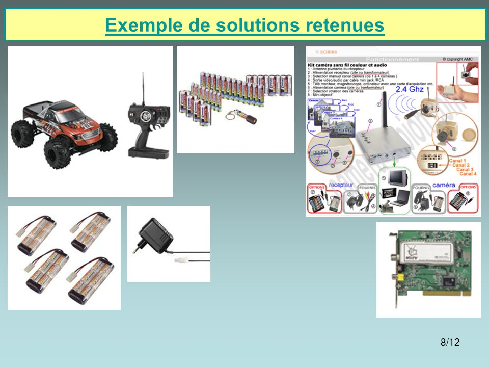 Exemple de solutions retenues