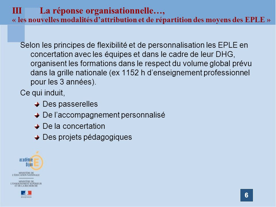 III La réponse organisationnelle…,