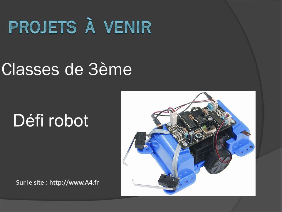 Projets à venir Classes de 3ème Défi robot