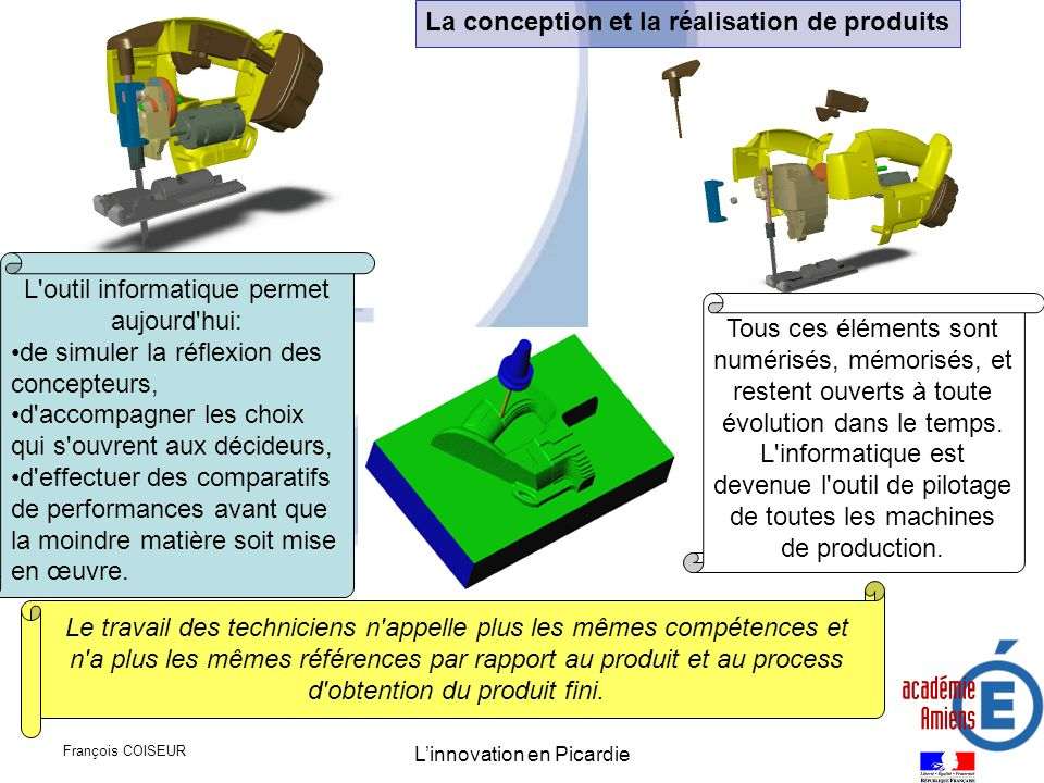 La conception et la réalisation de produits