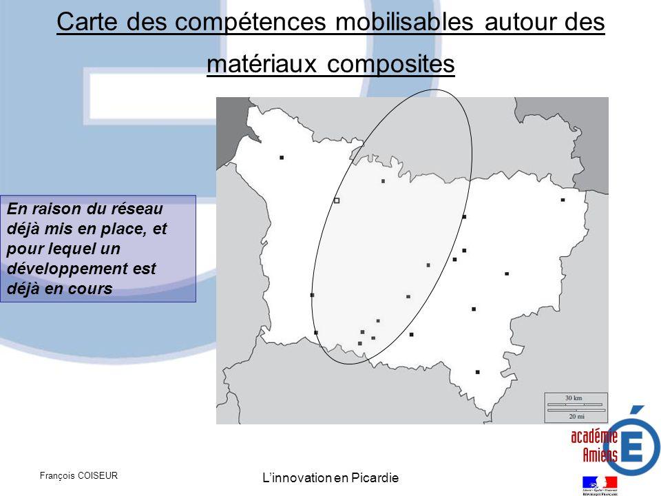 Carte des compétences mobilisables autour des matériaux composites