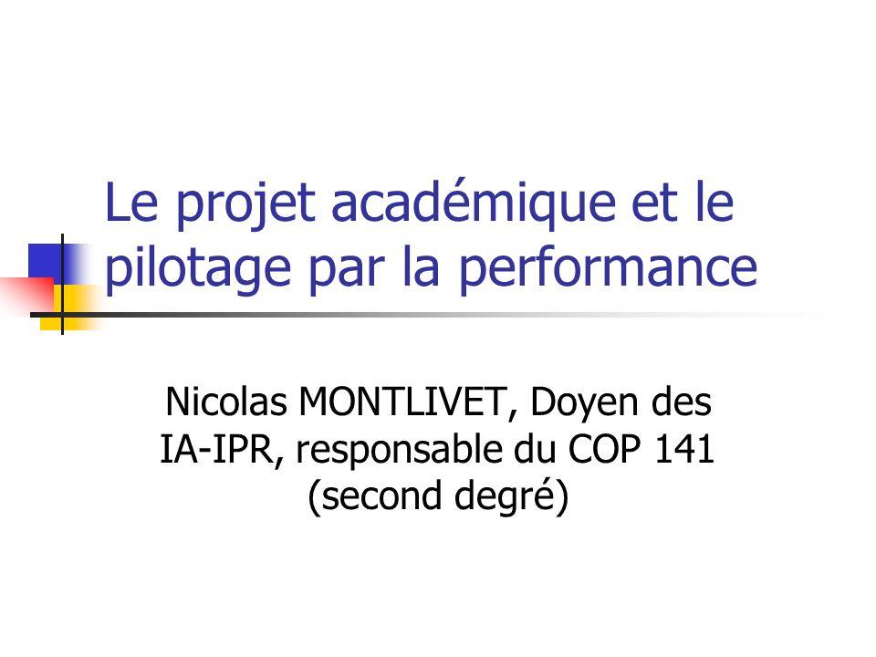 Le projet académique et le pilotage par la performance