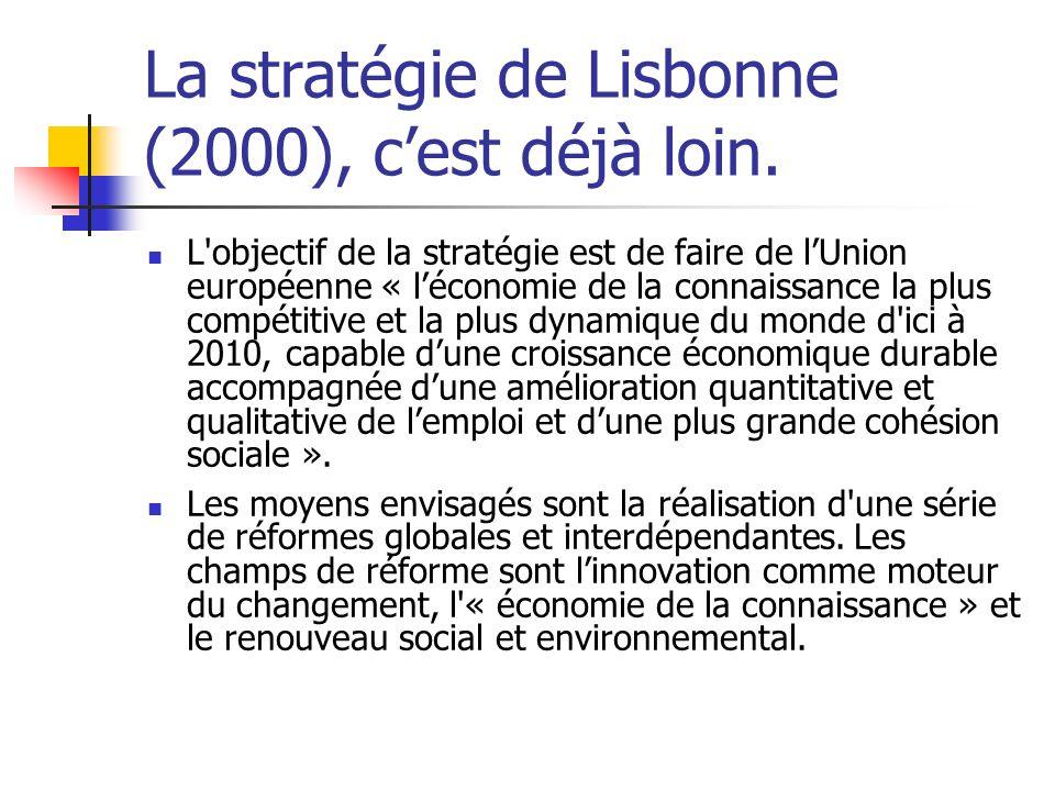 La stratégie de Lisbonne (2000), c'est déjà loin.