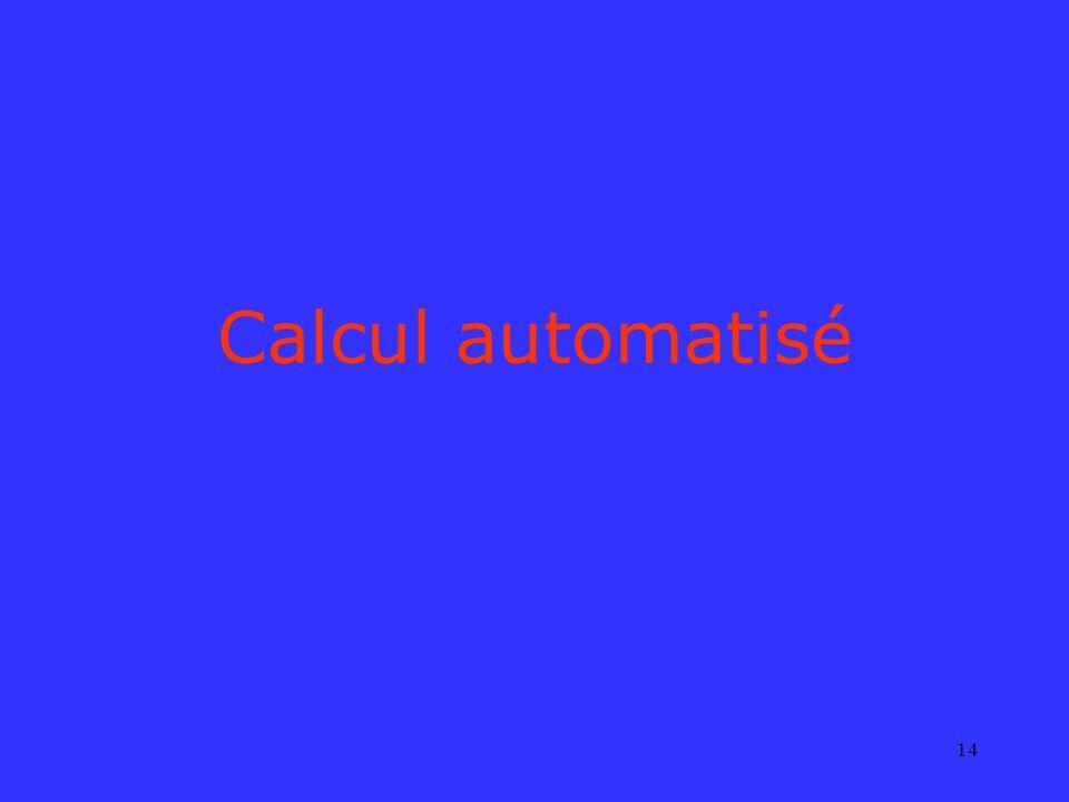 Calcul automatisé