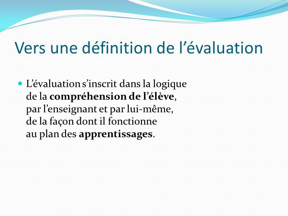 Vers une définition de l'évaluation