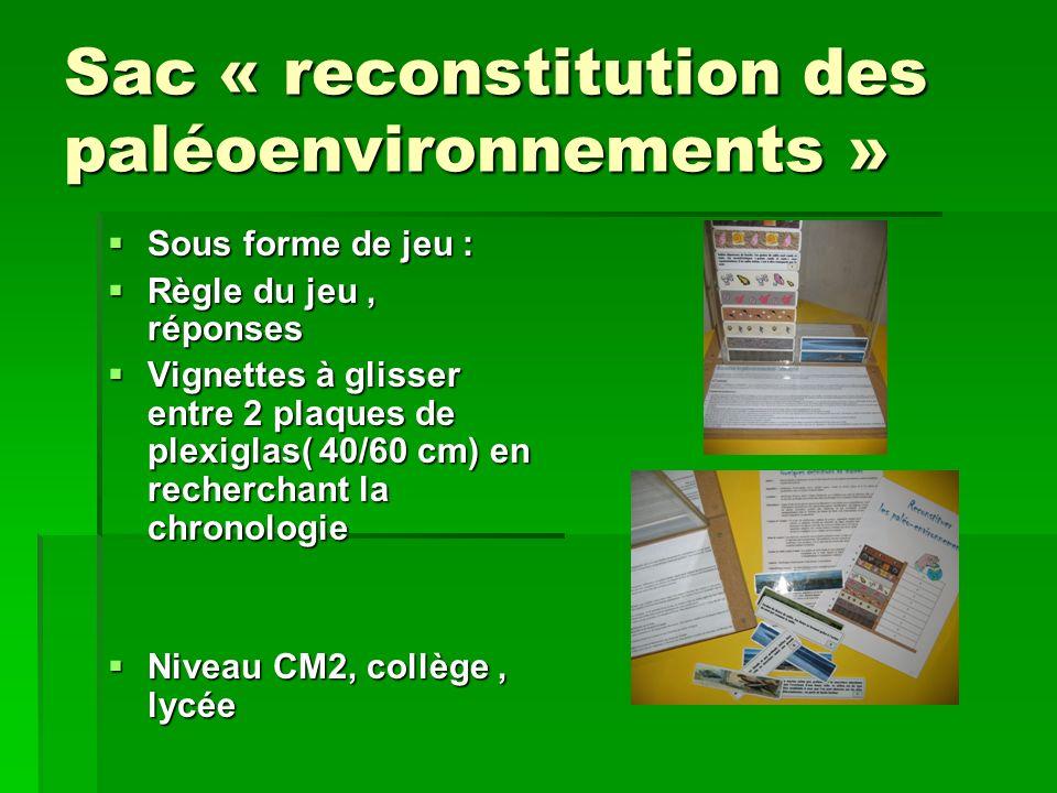Sac « reconstitution des paléoenvironnements »