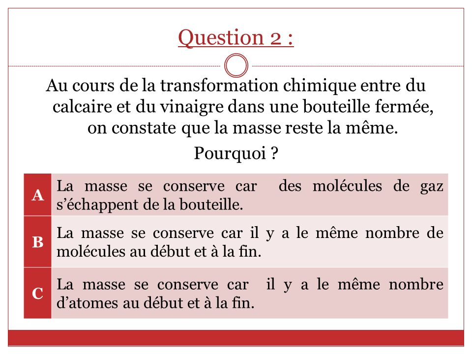 Question 2 :