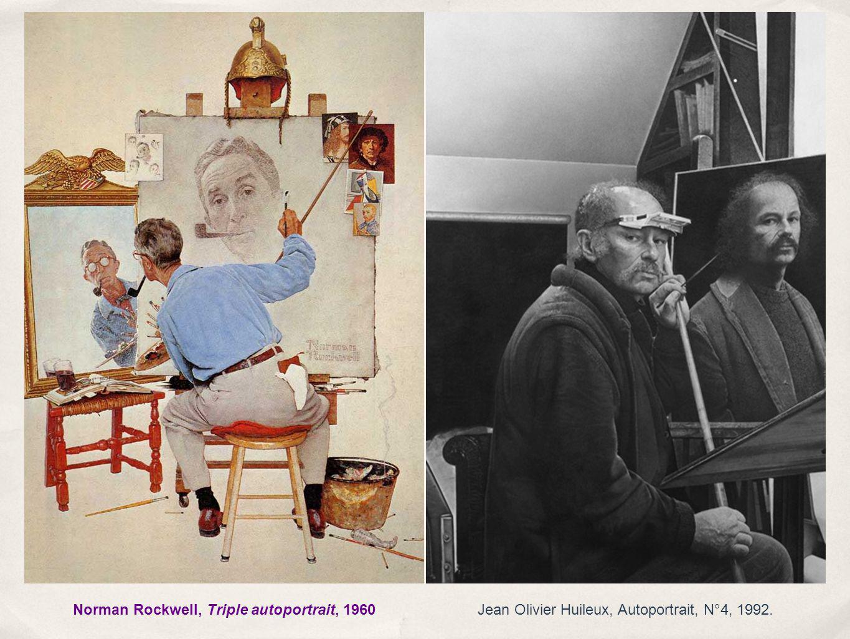 Jean Olivier Huileux, Autoportrait, N°4, 1992.