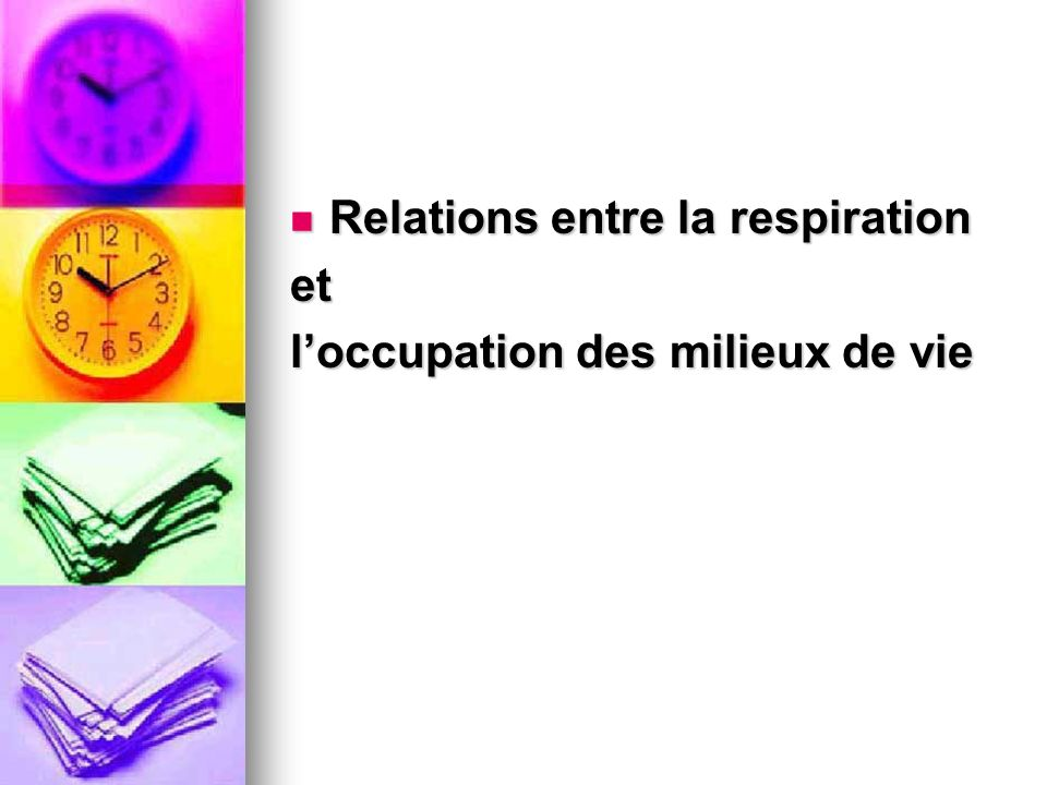 Relations entre la respiration