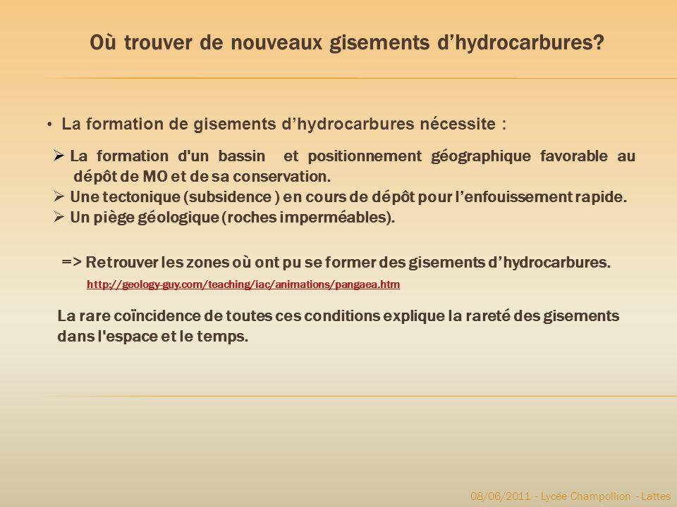 Où trouver de nouveaux gisements d'hydrocarbures