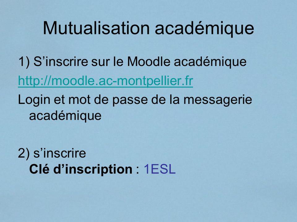 Mutualisation académique