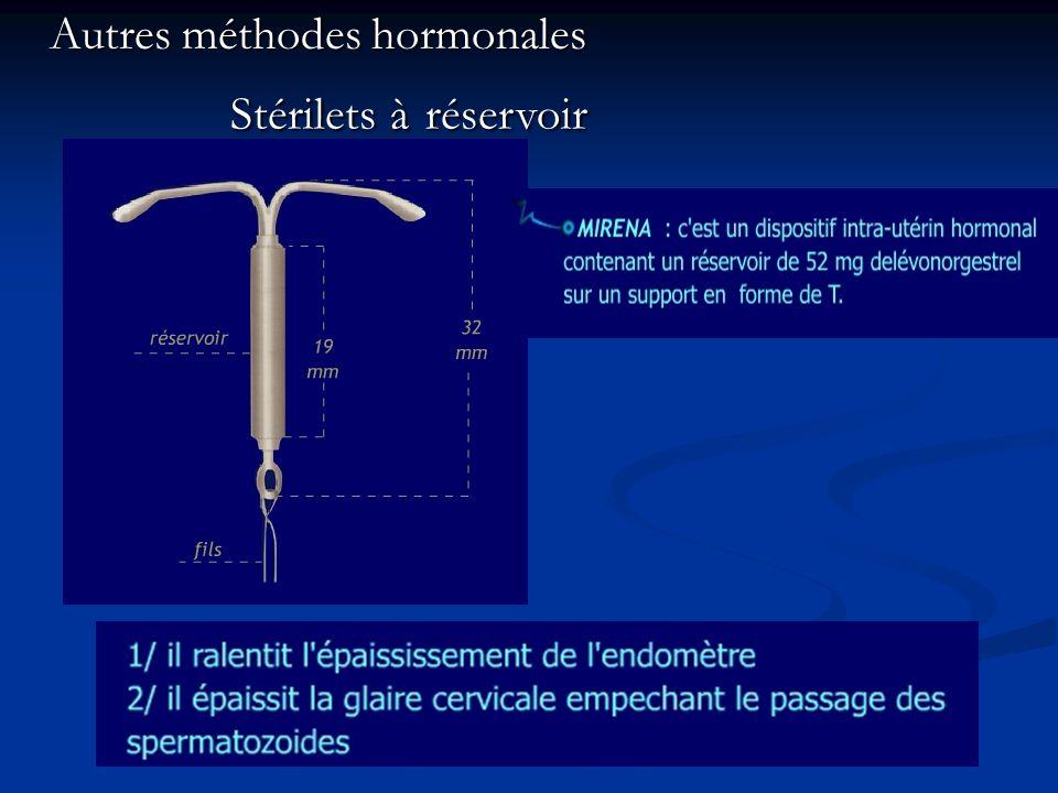 Autres méthodes hormonales