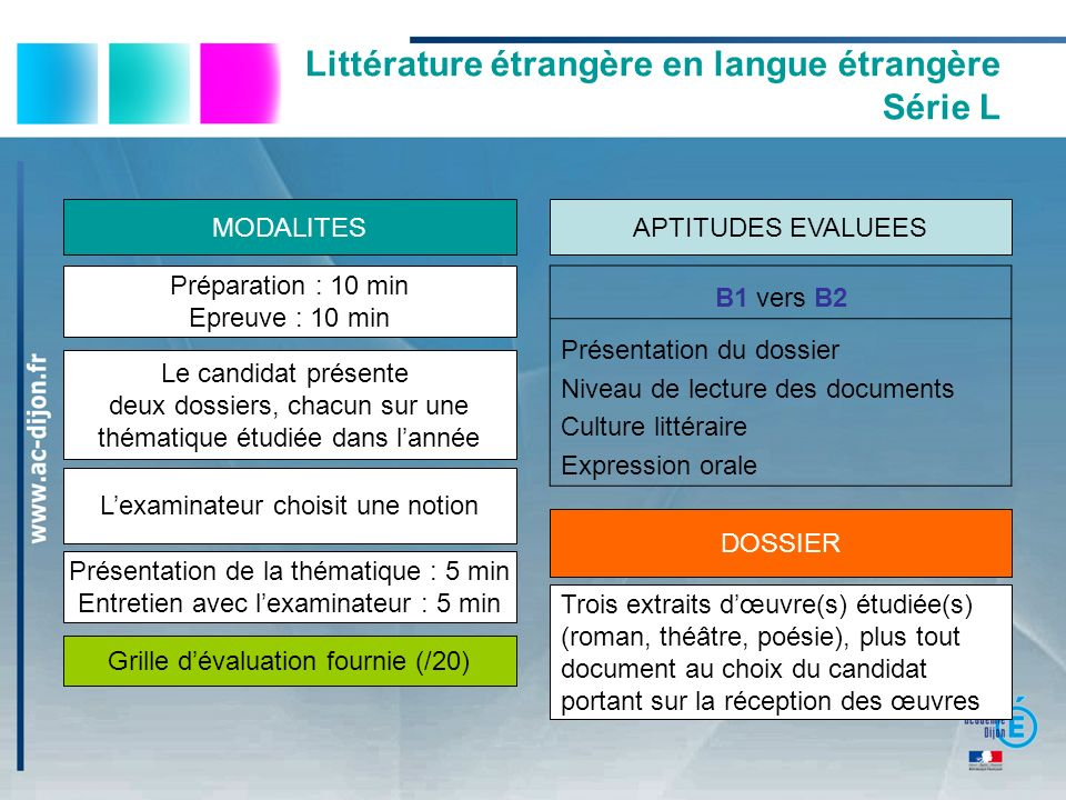 Littérature étrangère en langue étrangère Série L
