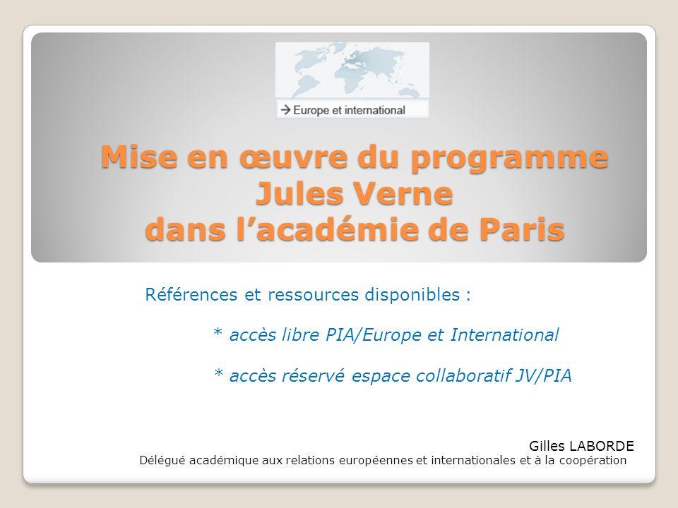 Mise en œuvre du programme dans l'académie de Paris
