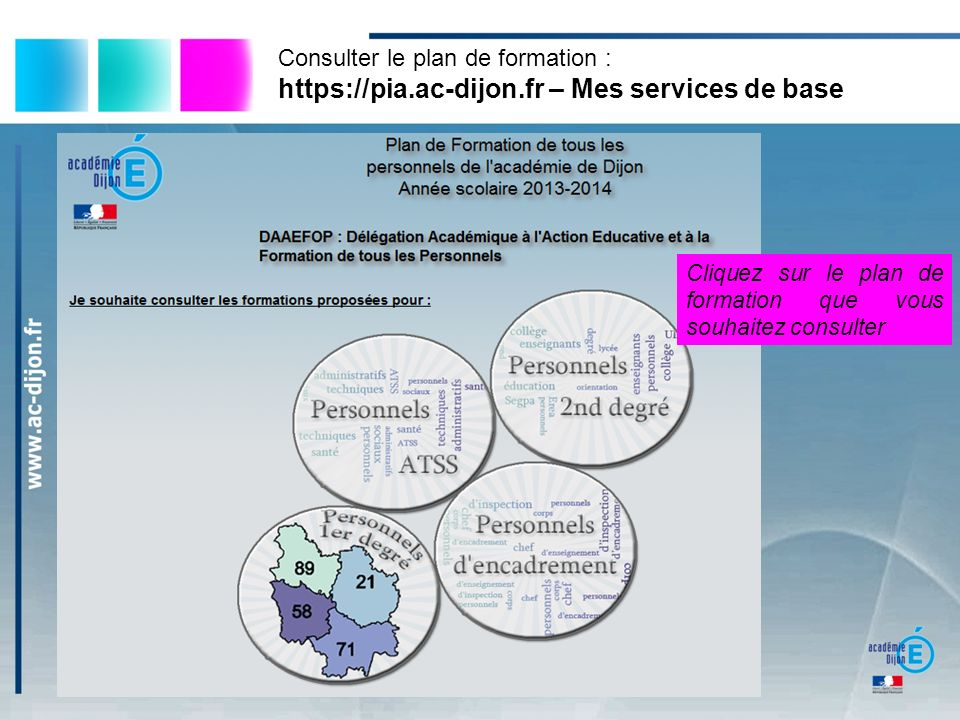 https://pia.ac-dijon.fr – Mes services de base