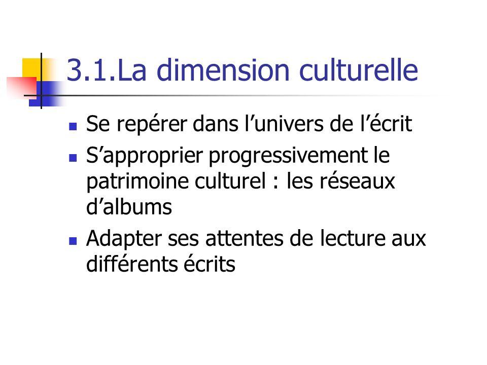 3.1.La dimension culturelle