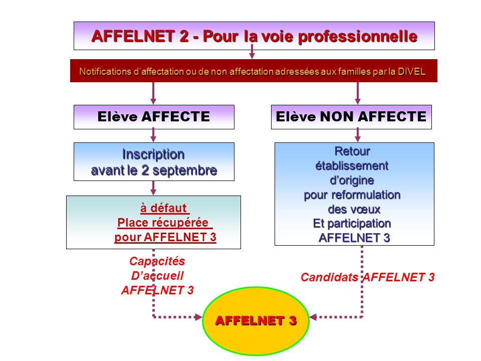 AFFELNET 2 - Pour la voie professionnelle