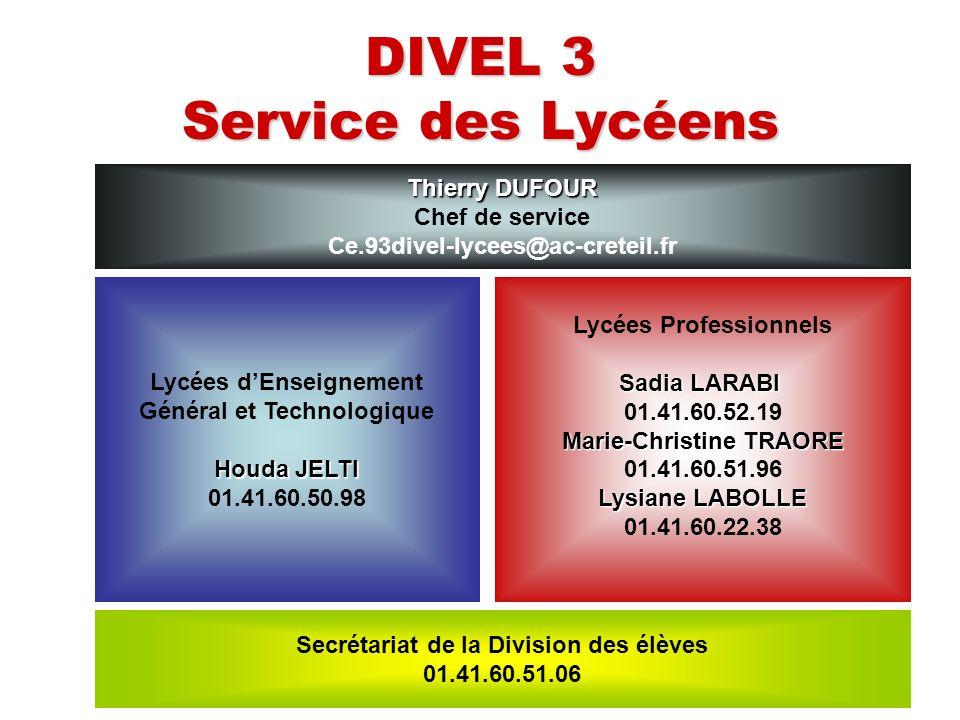 DIVEL 3 Service des Lycéens