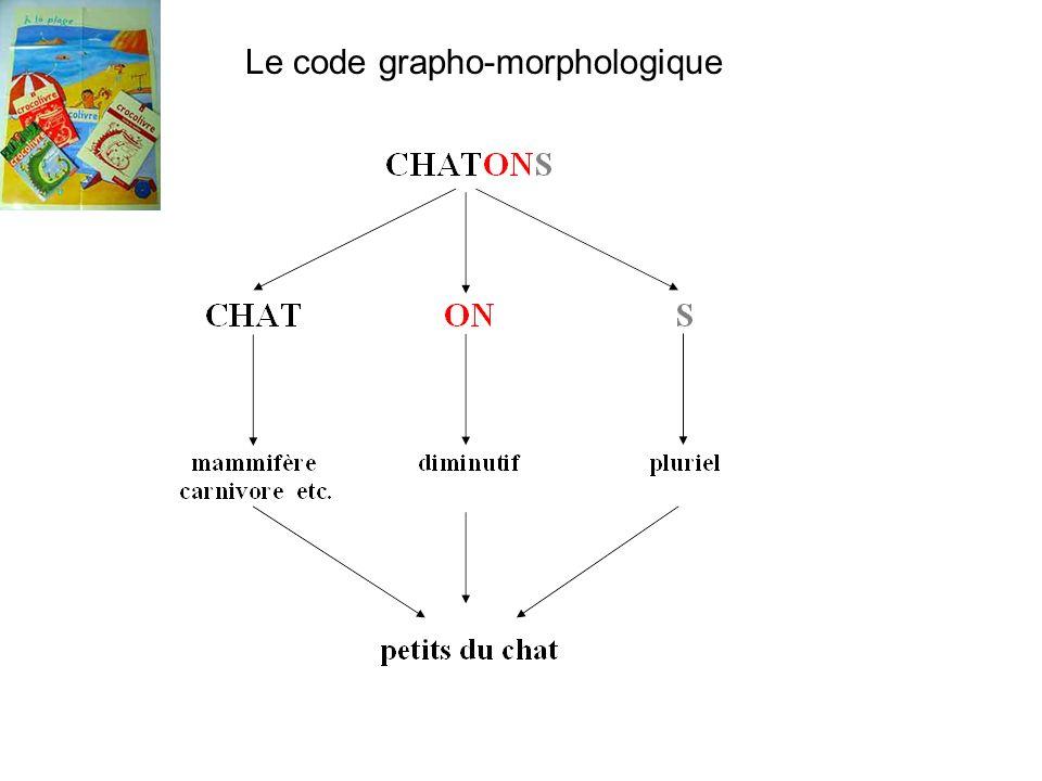 Le code grapho-morphologique