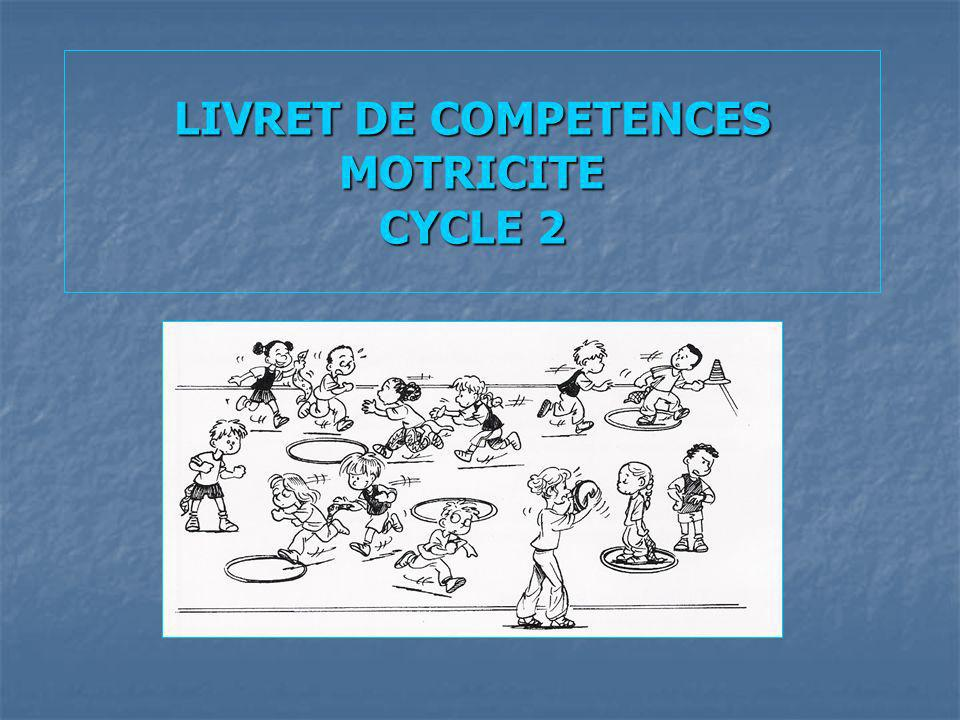 LIVRET DE COMPETENCES MOTRICITE CYCLE 2