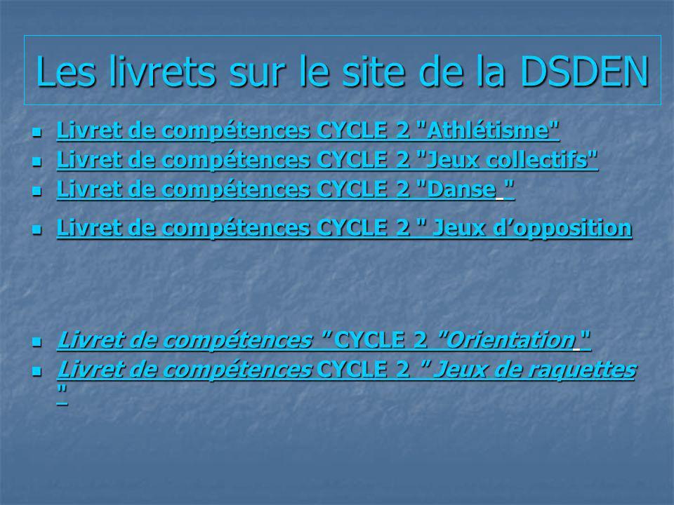 Les livrets sur le site de la DSDEN
