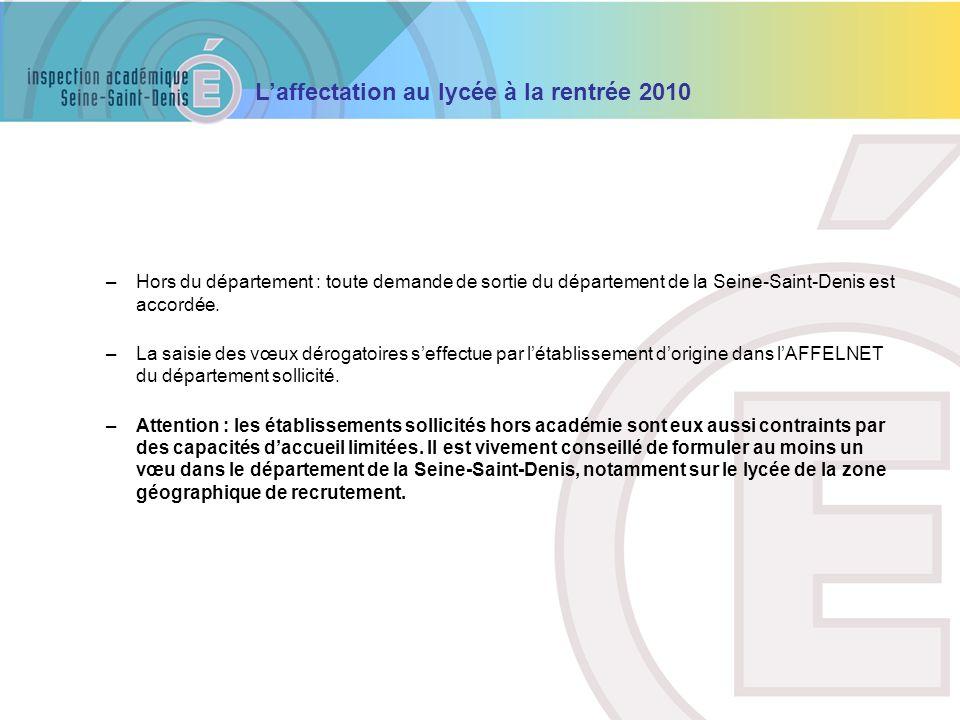 Hors du département : toute demande de sortie du département de la Seine-Saint-Denis est accordée.