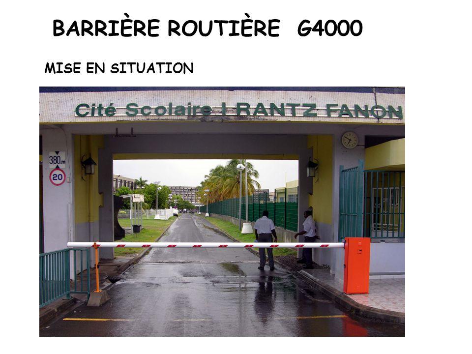 BARRIÈRE ROUTIÈRE G4000 MISE EN SITUATION