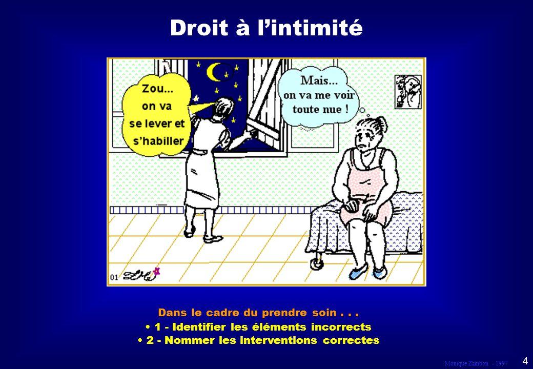 Droit à l'intimité SCÈNE 1 Dans le cadre du prendre soin . . .