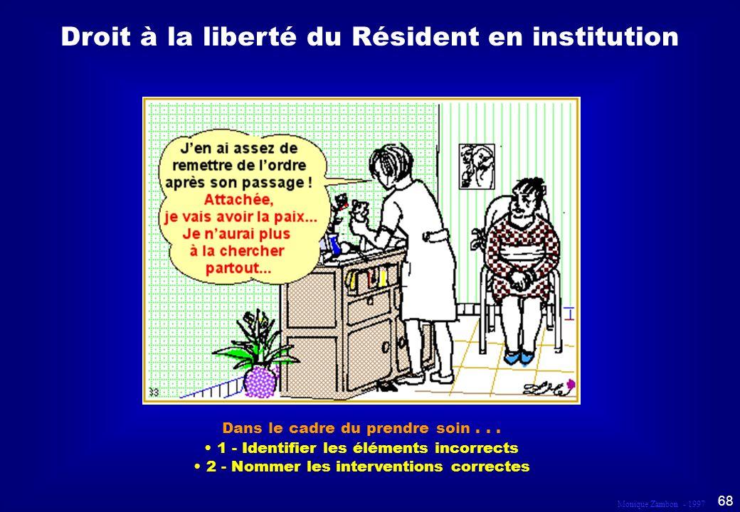 Droit à la liberté du Résident en institution