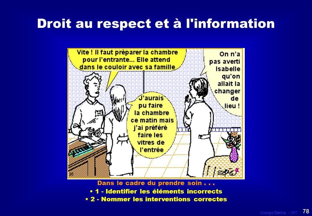 Droit au respect et à l information