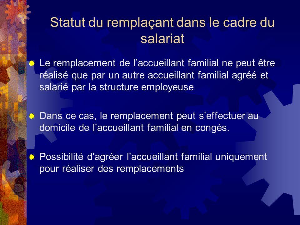 Statut du remplaçant dans le cadre du salariat
