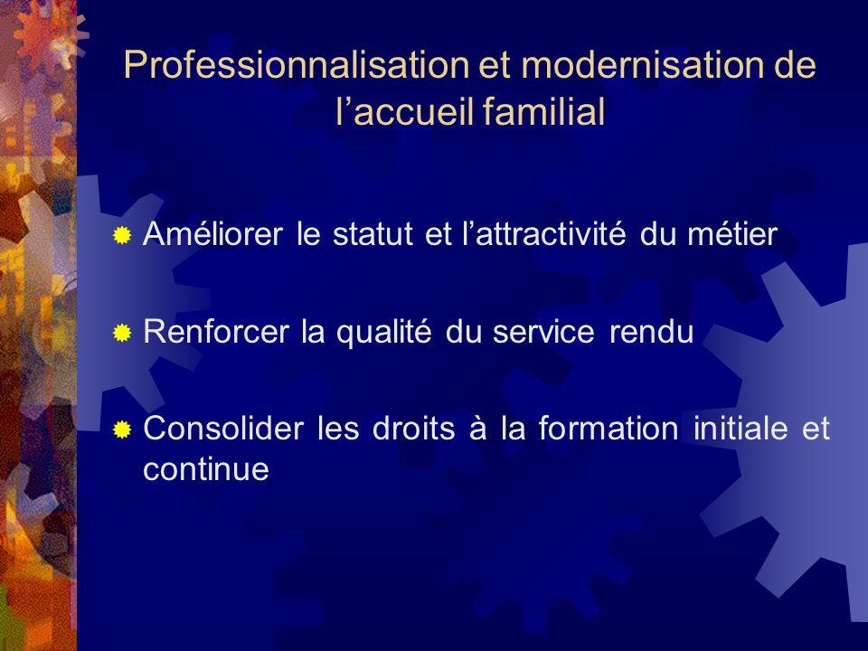 Professionnalisation et modernisation de l'accueil familial