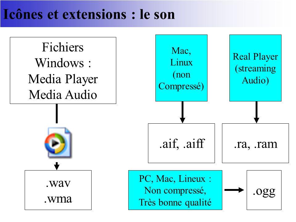 Icônes et extensions : le son