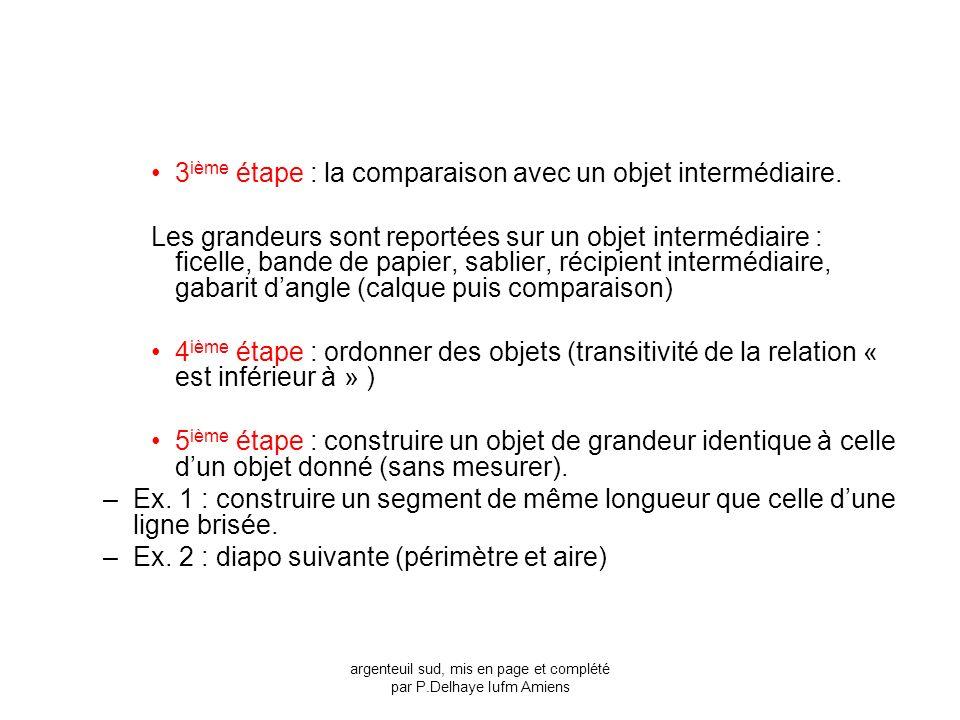 argenteuil sud, mis en page et complété par P.Delhaye Iufm Amiens
