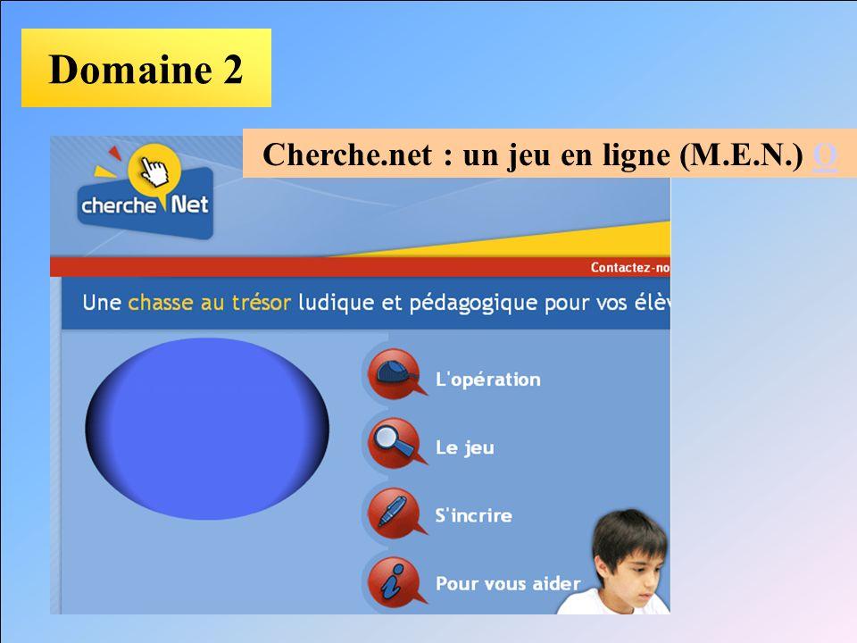 Cherche.net : un jeu en ligne (M.E.N.) O