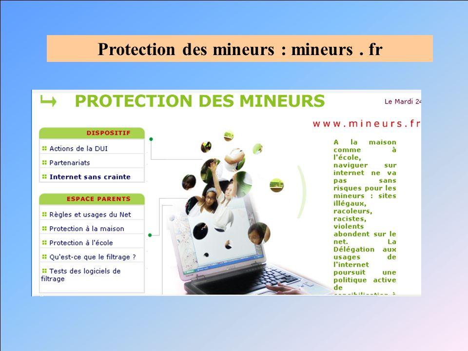 Protection des mineurs : mineurs . fr