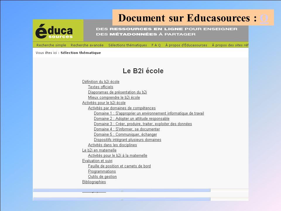 Document sur Educasources : O