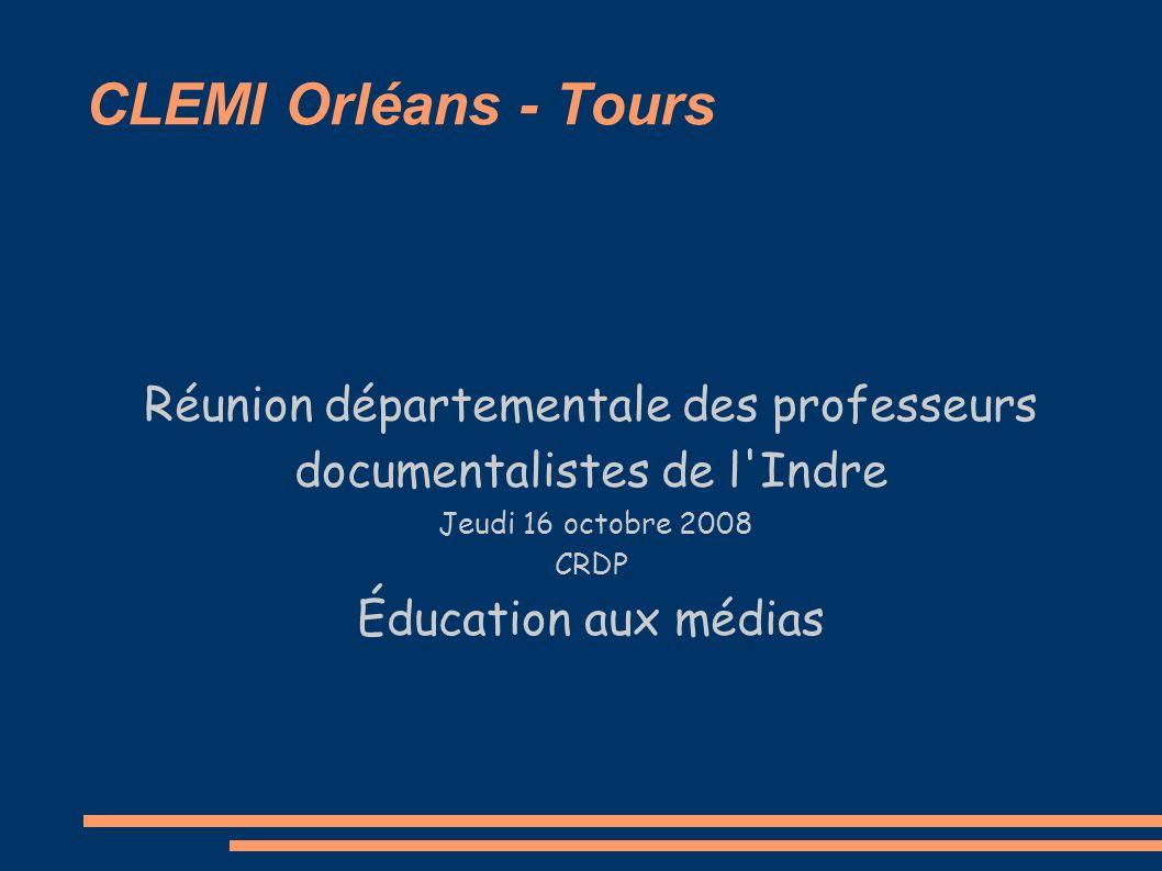 Réunion départementale des professeurs documentalistes de l Indre
